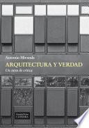 libro Arquitectura Y Verdad