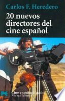libro 20 Nuevos Directores Del Cine Español