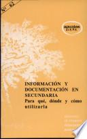 libro Información Y Documentación En Secundaria