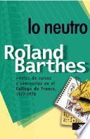 libro Lo Neutro