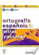 libro Ortografía Española I