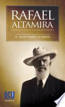 libro Rafael Altamira. Curiosidades Y Anécdotas