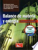 libro Balance De Materia Y Energía