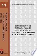 libro Ecofisiología De  Palmaria Palmata  Con Relación Al Contenido De Nutrientes Y Aplicación Al Cultivo