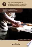 libro Elaboración De Soluciones Para La Instalación De Elementos De Carpintería. Mams0108