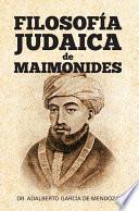 libro Filosofia Judaica De Maimonides