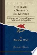 libro Geografía Y Geología Del Ecuador