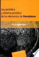 libro Ley Periódica Y Sistema Periódico De Los Elementos De Mendeleiev