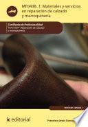 libro Materiales Y Servicios En Reparación De Calzado Y Marroquinería. Tcpc0109
