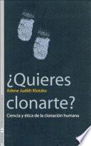 libro ¿quieres Clonarte?