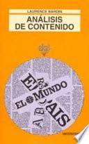 libro Análisis De Contenido