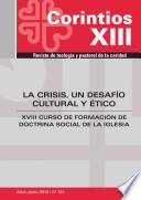 La Crisis, Un Desafío Cultural Y ético
