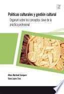 libro Políticas Culturales Y Gestión Cultural