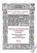 libro Comentario Al «carmen Paschale» Y A Dos Himnos De Sedulio