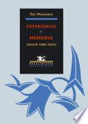 libro Experiencia Y Memoria
