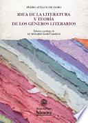 libro Idea De La Literatura Y Teoría De Los Géneros Literarios