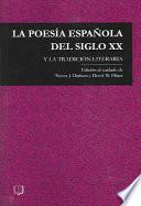 libro La Poesia Espanola Del Siglo Xx Y La Tradicion Literaria