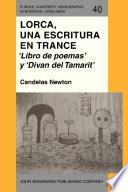 libro Lorca, Una Escritura En Trance