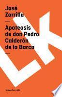 libro Apoteosis De Don Pedro Calderón De La Barca