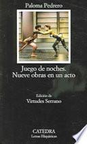 libro Juego De Noches