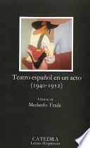 Teatro Español En Un Acto