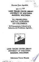 libro El Problema Social Agrario En Colombia