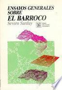 libro Ensayos Generales Sobre El Barroco