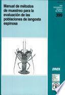 Manual De Métodos De Muestreo Para La Evaluación De Las Poblaciones De Langosta Espinosa