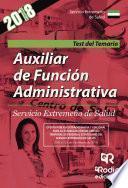 Auxiliar De Función Administrativa. Servicio Extremeño De Salud. Test Del Temario
