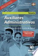 libro Auxiliares Administrativos. Osakidetza Servicio Vasco De Salud. Temario