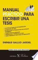 Manual Práctico Para Escribir Una Tesis