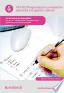 libro Programación Y Evaluación Aplicadas A La Gestión Cultural. Sscb0110