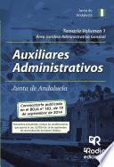 Temario Volumen 1. Auxiliares Administrativos De La Junta De Andalucía. Área Jurídico Administrativa General