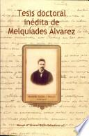 Tesis Doctoral Inédita De Melquíades Álvarez