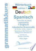 Wörterbuch Deutsch   Spanisch   Lateinamerika   Englisch A1 Lektion 1