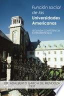 Función Social De Las Universidades Americanas