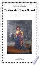 libro Teatro De Clara Gazul