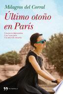 libro Último Otoño En París