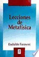 Lecciones De Metafísica