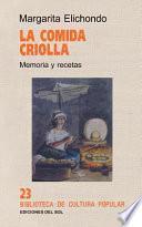 libro La Comida Criolla