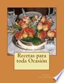 libro Recetas Para Toda Ocasion