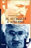 De Heidegger A Habermas