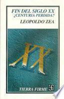 libro Fin Del Siglo Xx