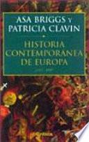 Historia Contemporánea De Europa