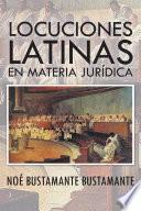 libro Locuciones Latinas En Materia JurÍdica