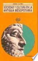 libro Sociedad Y Cultura En La Antigua Mesopotamia