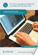 libro Lenguajes De Definición Y Modificación De Datos Sql. Ifct0310