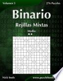 libro Binario Rejillas Mixtas   Medio   Volumen 3   276 Puzzles