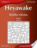 libro Heyawake Rejillas Mixtas   Difícil   Volumen 4   276 Puzzles