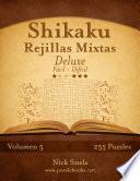libro Shikaku Rejillas Mixtas Deluxe   De Fácil A Difícil   Volumen 5   255 Puzzles